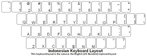 Indonesian Keyboard Labels - DSI Depot
