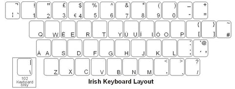Irish Keyboard Labels - DSI Depot