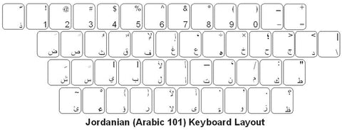 Jordan (Arabic 101) Keyboard Labels - DSI Depot