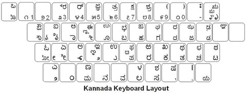 Kannada Keyboard Labels - DSI Depot