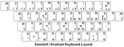 Konkani Keyboard Labels - DSI Depot