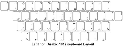 Lebanese (Arabic) Keyboard Labels - DSI Depot