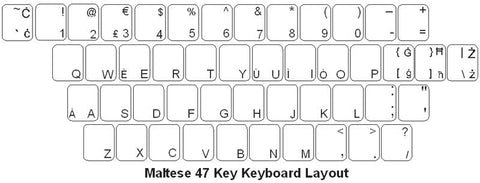 Maltese Keyboard Labels - DSI Depot