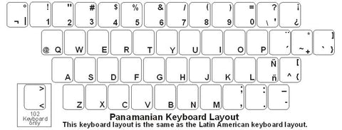 Panamanian (Spanish) Keyboard Labels - DSI Depot