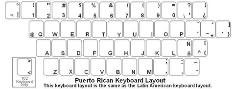 Puerto Rico (Spanish) Keyboard Labels - DSI Depot