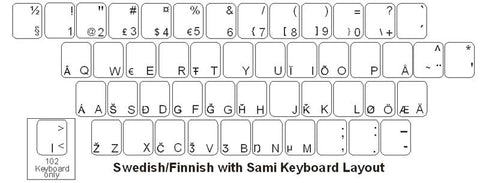 Swedish with Sami Keyboard Labels - DSI Depot