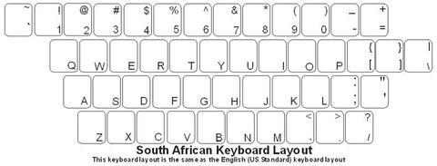 South Africa (English) Keyboard Labels - DSI Depot