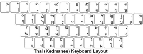 Thai Kedmanee Keyboard Labels - DSI Depot