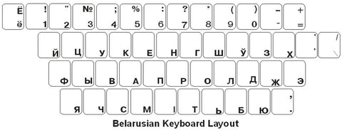 Ukrainian Keyboard Labels - DSI Depot