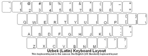 Uzbek (Latin) Keyboard Labels - DSI Depot