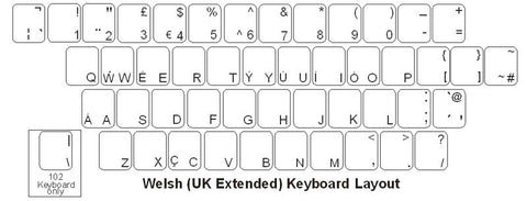 Welsh Keyboard Labels - DSI Depot