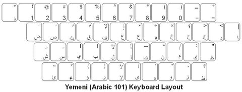 Yemen Keyboard Labels - DSI Depot