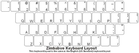 Zimbabwe (English) Keyboard Labels - DSI Depot