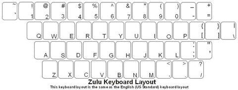 Zulu Keyboard Labels - DSI Depot