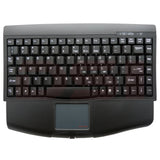 Solidtek Mini Black PS/2 Keyboard with Touchpad KB-ACK540PB - DSI Depot