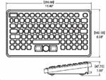 TG3 BLH-5RU Backlit Nema 4, USB Keyboard with Pointing Device - DSI Depot