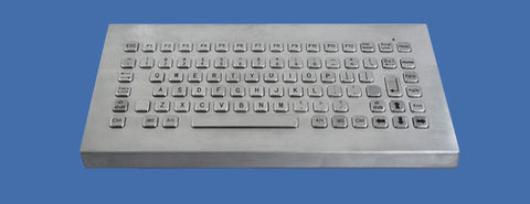 Industrial Metal Kiosk Desktop Compact Keyboard with FN Keys DKM-C-1002-DESK - DSI Depot
