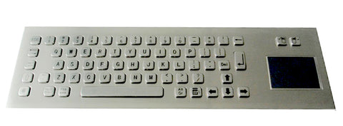 Industrial Metal Kiosk Compact Keyboard with Touchpad Backside mounting DKM-CP-1001-FRONT - DSI Depot
