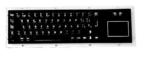 Industrial Metal Kiosk Compact Keyboard with Touchpad DKM-CP-1001 - DSI Depot