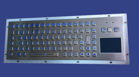 Industrial Metal Kiosk Compact Touchpad Keyboard with LED Backlight DKM-CP-1002-LED - DSI Depot