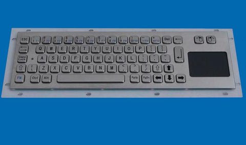 Industrial Metal Kiosk Compact Keyboard with Touchpad DKM-CP1001-N - DSI Depot