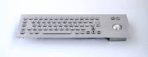 Industrial Metal Kiosk Compact Trackball Keyboard with Backside mounting DKM-CT-1001-FRONT - DSI Depot