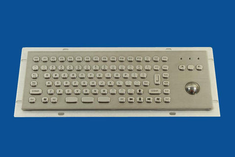 Industrial Metal Kiosk Compact Optical Trackball Keyboard with FN Key DKM-CT-2002 - DSI Depot