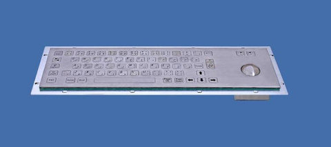 Industrial Metal Kiosk Compact Trackball Keyboard with Flat Keys DKM-CT-3001 - DSI Depot