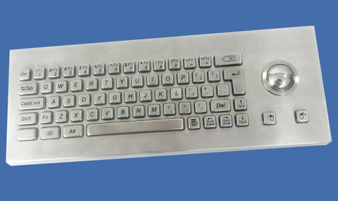 Industrial Metal Kiosk Desktop Compact Trackball Keyboard with Mechanical Key Switch DKM-CT-4001-DESK - DSI Depot
