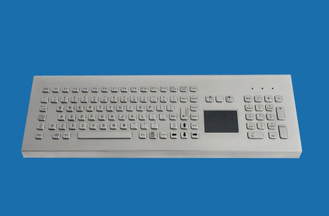 Industrial Metal Kiosk Desktop Full Size Touchpad Keyboard with Numeric Keypad DKM-FP-1002-DESK - DSI Depot