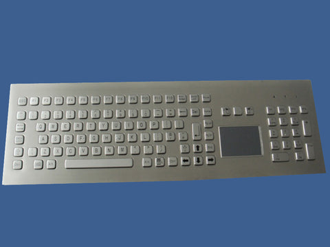 Industrial Metal Kiosk Full Size Backside Mounting Touchpad Keyboard with Numeric Keypad DKM-FP-1002-FRONT - DSI Depot