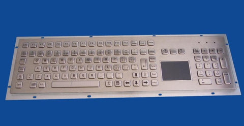 Industrial Metal Kiosk Full Size Touchpad Keyboard with Numeric Keypad DKM-FP-1002 - DSI Depot