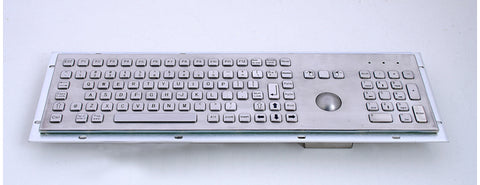 Industrial Metal Kiosk Full Size Trackball Keyboard with Numeric Keypad DKM-FT-1002 - DSI Depot