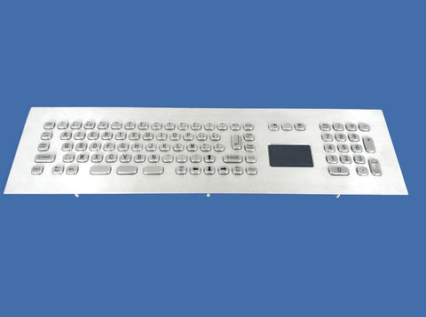 Industrial Metal Kiosk Expanded Face Panel Touchpad  Keyboard with Numeric Keypad DKM-FT-2002-FRONT - DSI Depot