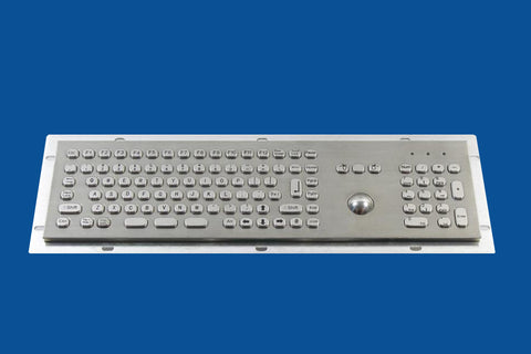 Industrial Metal Kiosk Full Size Optical Trackball Keyboard with Numeric Keypad DKM-FT-2002 - DSI Depot