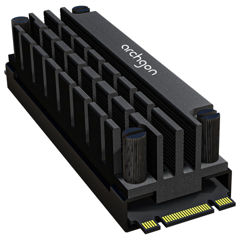 Archgon M.2 NVMe SSD Heatsink with Thermal Pads - Anodized Aluminium HS-1110 - DSI Depot