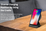 Hitachi-LG Qi Certified 15W Fast Wireless Charging Pad and Stand for iPhone and Android - MP7 - DSI Depot