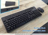Wireless RF Lego Base Plate Keyboard and Mouse Combo K77RP - DSI Depot