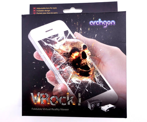 Archgon New VRock! Foldable Adjustable Virtual Reality Game Viewer 3D Lens Effect - DSI Depot