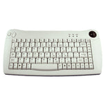 Solidtek Mini Ivory PS/2 Keyboard with Trackball ACK-5010 - DSI Depot