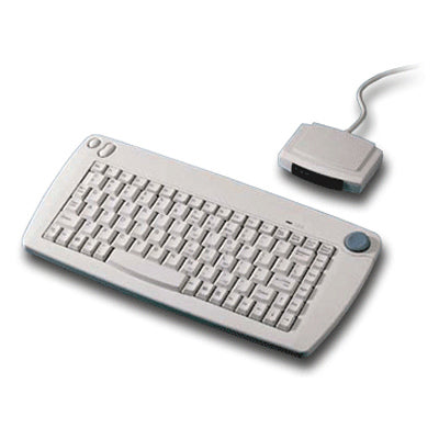 Solidtek IR Wireless Ivory PS2 Keyboard with Built in Trackpoint ACK571 - DSI Depot