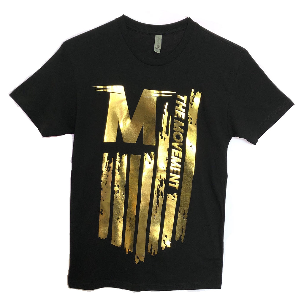 Unisex Flag - T-Shirt (gold logo)