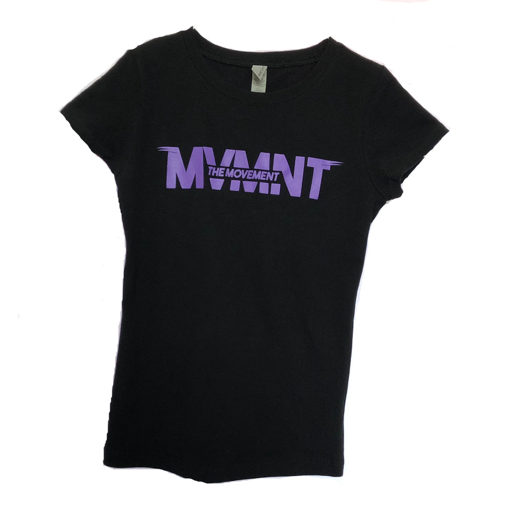 Ladies MVMNT - Cap Sleeve (purple logo)