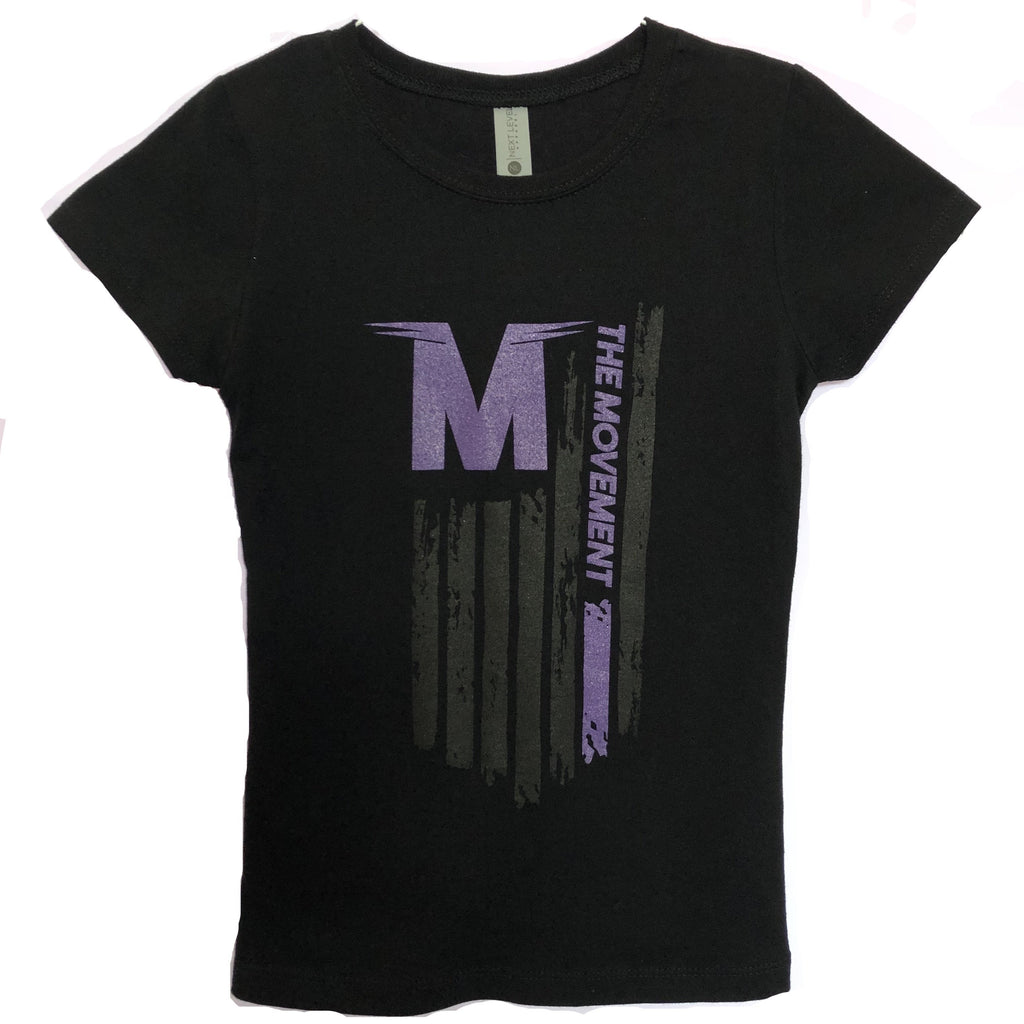 Ladies Flag - Cap Sleeve (purple/black)