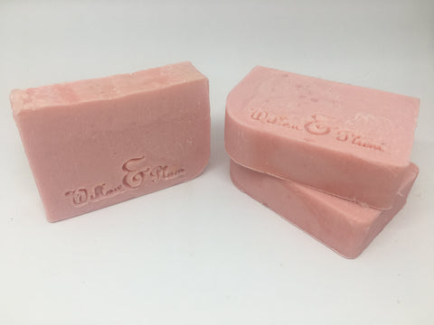 The pink soap