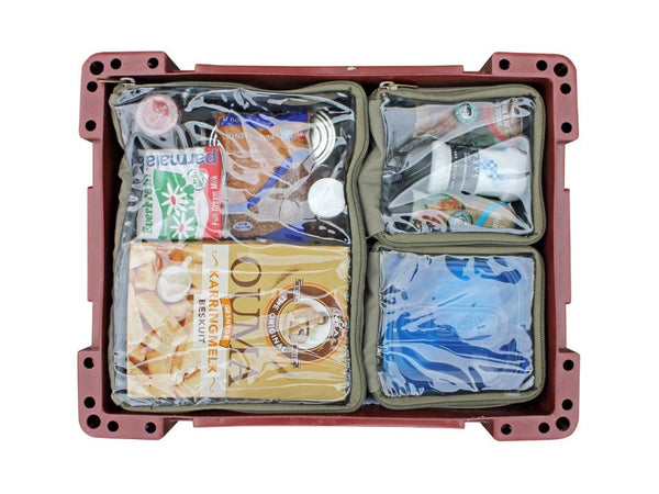 Camp Cover Wolf Box Pouch- 1x Half & 2x Quarters