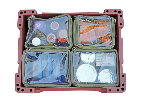 Camp Cover Wolf Box Pouch- 4x Quarters
