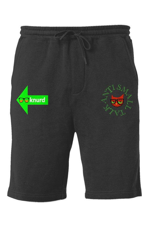 ANTI SMALL TALK GREEN SHORTS