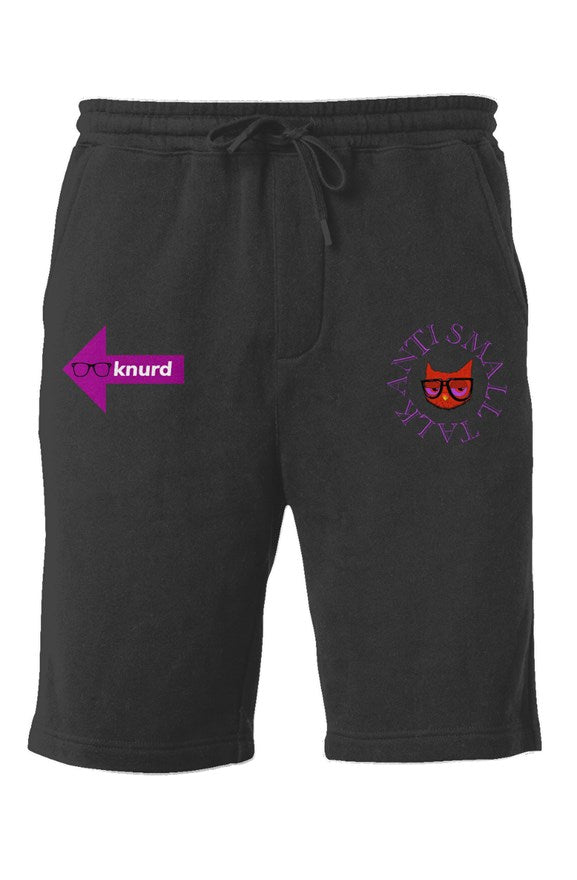 ANTI SMALL TALK PURP SHORTS