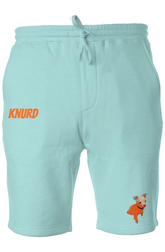 NACHO KNURD FLEECE SHORTS TEAL/ORNG